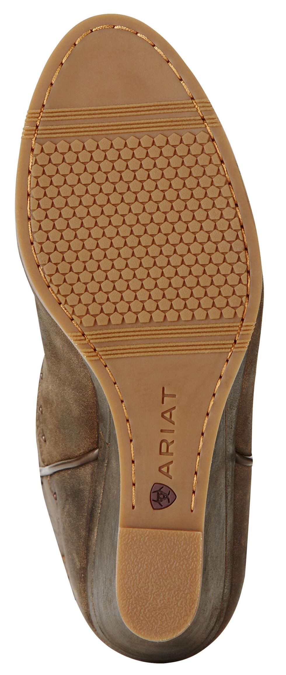 Ariat Dark Chocolate Nashville Wedge Cowgirl Boots - Round Toe , Chocolate, hi-res