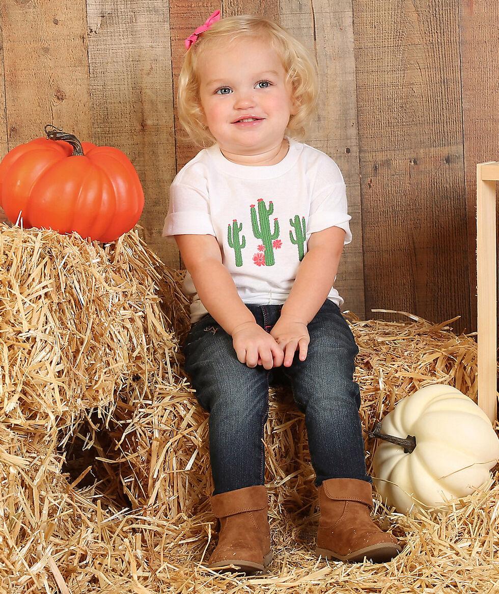 Wrangler Toddler Girls' White Cactus Print T-Shirt , White, hi-res