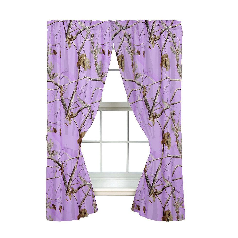 Realtree AP Lavender Rod Pocket Curtains , Camouflage, hi-res