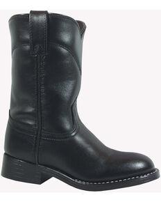 Smoky Mountain Toddler Boys' Roper Western Boots - Round Toe, Black, hi-res