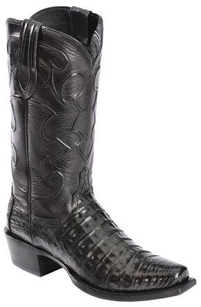 Mens Rustic Brown Genuine Crocodile Belly Skin Leather Cowboy Boots Snip Toe