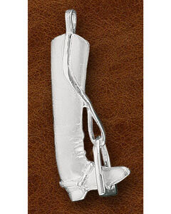 Kelly Herd Sterling Silver English Boot Pendant, Silver, hi-res