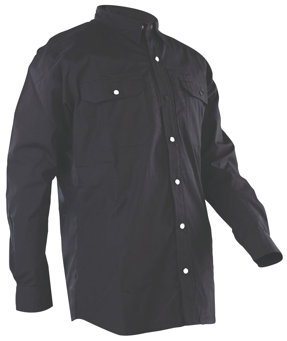 Tru-Spec Men's Black 24-7 Dress Shirt , Black, hi-res