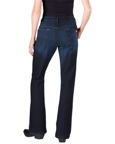 Dickies Women's Slim Fit Bootcut Jeans, Vintage Dark, hi-res