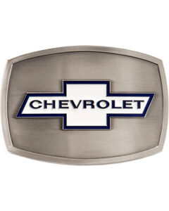 Chevrolet Belt Buckle, Silver, hi-res