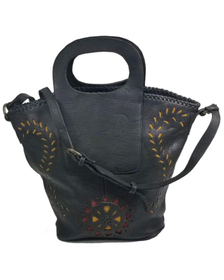 Kobler Leather Women's Black Amarillo Basket Bag, Black, hi-res