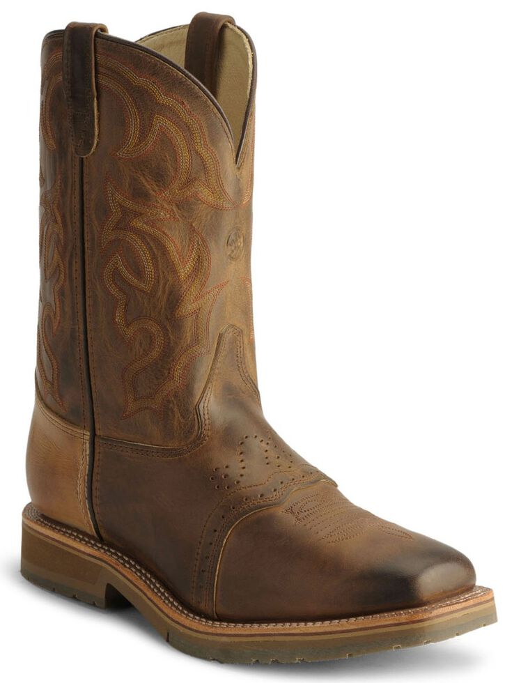 Double H Men's Ice Roper Cowboy Work Boots - Steel Toe, Bark, hi-res