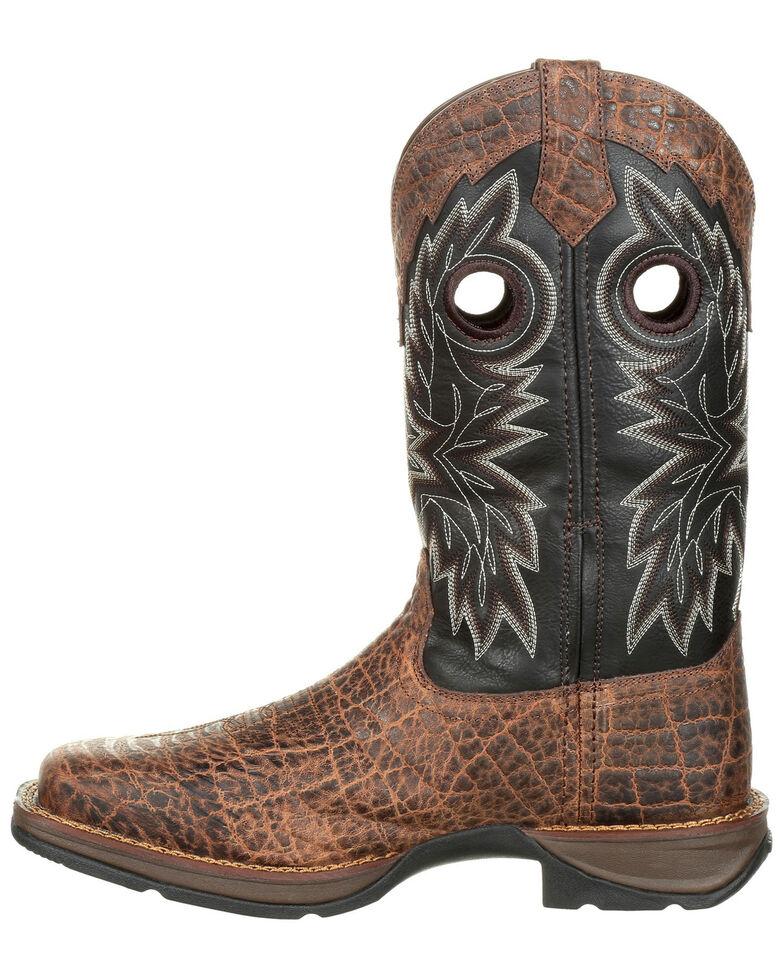 Durango Men's Rebel Faux Elephant Grain Western Boots - Square Toe, Brown, hi-res