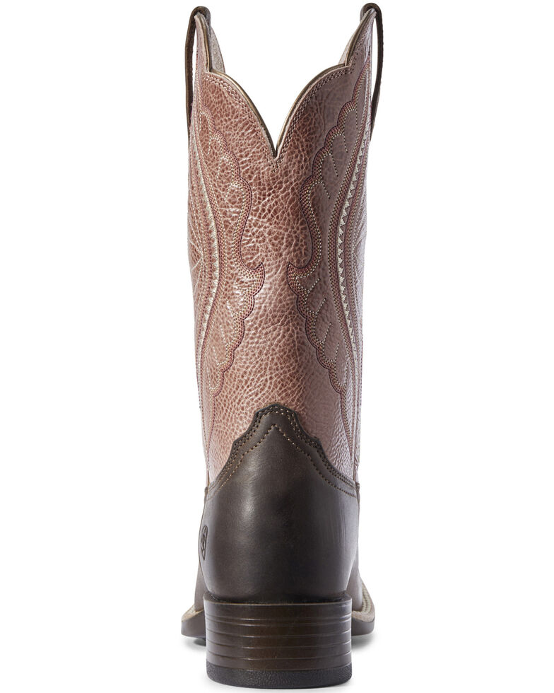 Ariat Women's Primetime Java Western Boots - Wide Square Toe, Brown, hi-res