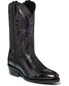 "Nocona Men's 12"" Black Cherry Cowboy Boots - Round Toe, Black Cherry, hi-res"
