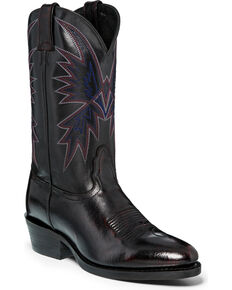 "Nocona Men's 12"" Black Cherry Cowboy Boots - Medium Toe, Black Cherry, hi-res"