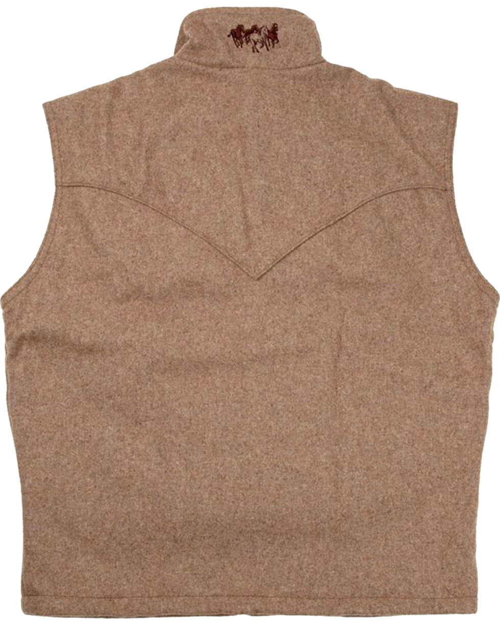 Schaefer Outfitter Men's Taupe Arena Melton Wool Vest, Taupe, hi-res