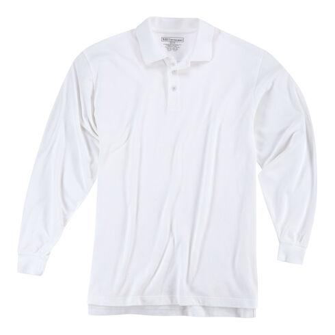 5.11 Tactical Utility Long Sleeve Polo Shirt, White, hi-res