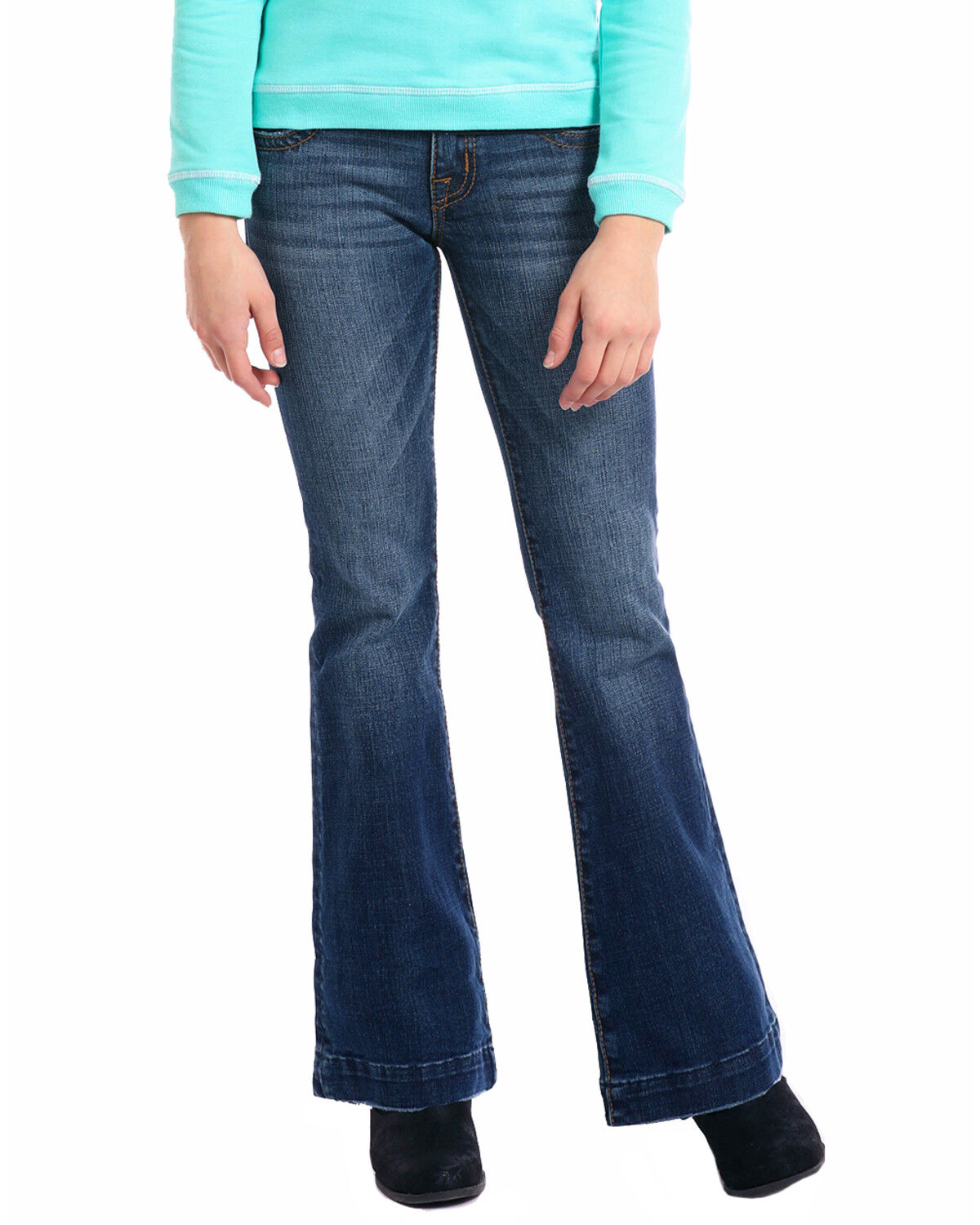 Rock /& Roll Cowgirl Girls and Girls Embroidered Trouser Jeans
