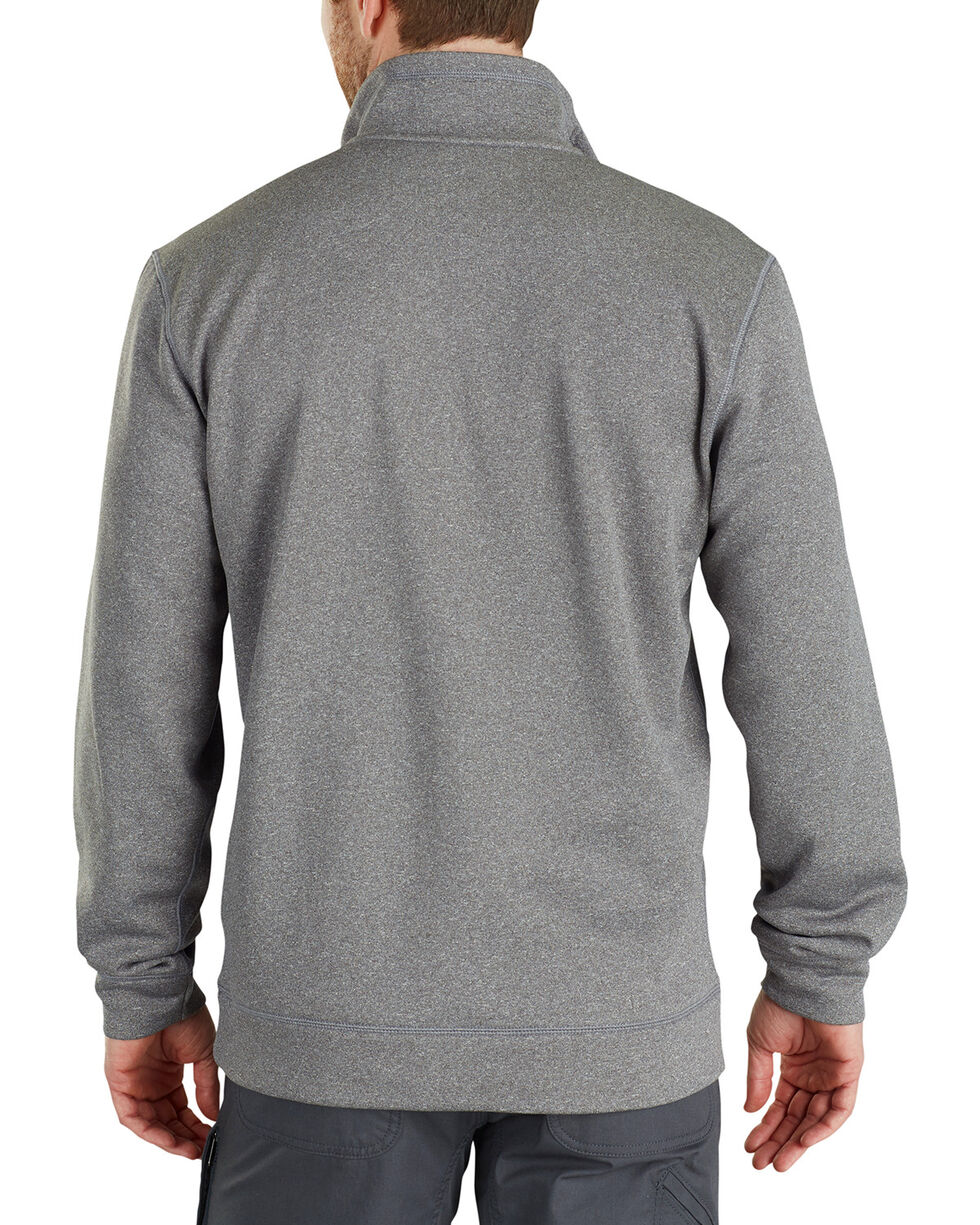Carhartt Men's Force Extremes Mock-Neck Half-Zip Sweatshirt , Medium Grey, hi-res