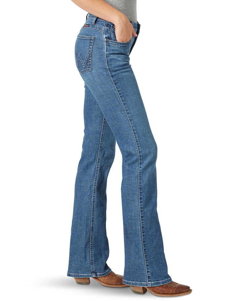 Wrangler Women's Gabby Q-Baby Bootcut Jeans, Blue, hi-res