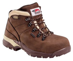 Avenger Women's Waterproof Hiking Boots - Composite Toe, Chocolate, hi-res