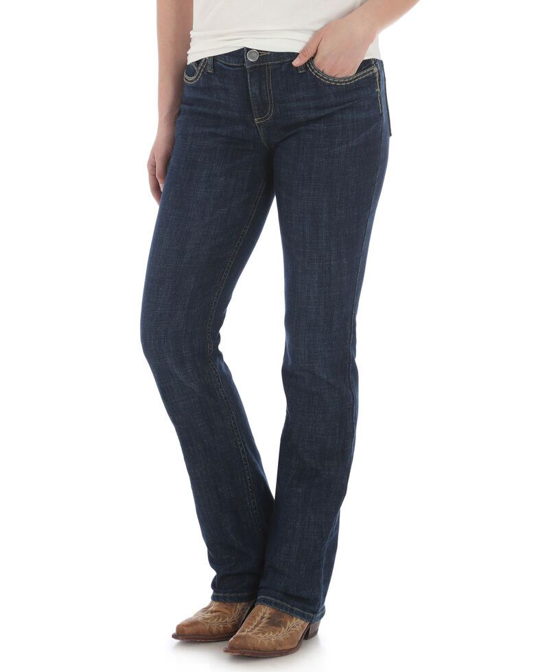 Wrangler Women's Shiloh Chicago Ultimate Riding Bootcut Jeans, Blue, hi-res