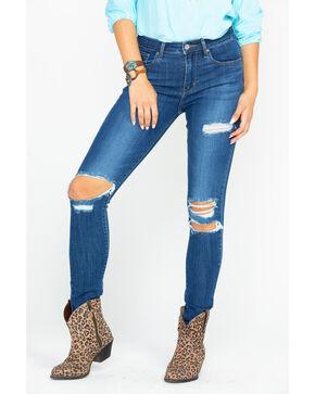 Levis Men's 721 High Rise Skinny Destructed Jeans , Blue, hi-res