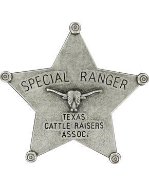 M&F Western Boys' Silver Ranger Star Badge , Silver, hi-res