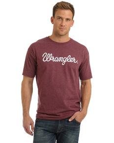 Wrangler Men's Burgundy Script Logo Graphic T-Shirt  , Burgundy, hi-res
