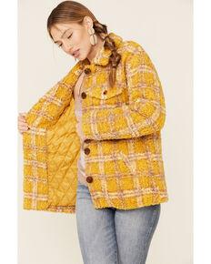 Driftwood Women's Mustard Jenny Sherpa Coat , Mustard, hi-res