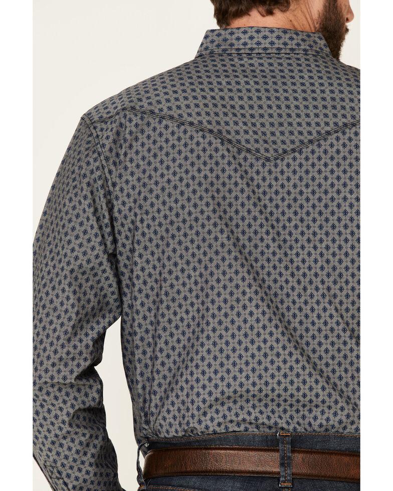 Moonshine Spirit Men's Paisley Icon Geo Print Long Sleeve Snap Western Shirt , Brown, hi-res