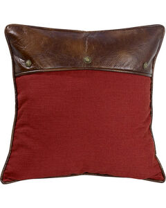 HiEnd Accents Ruidoso Collection Red Euro Pillow Sham, Multi, hi-res
