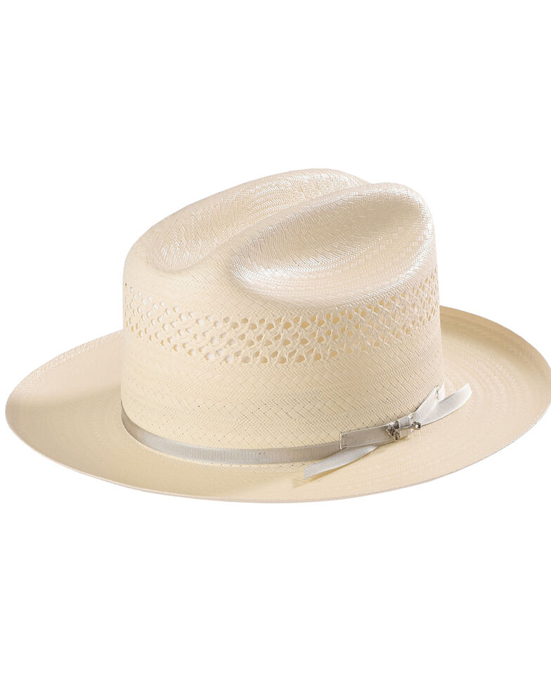 Stetson Men s Natural Open Road 4 Straw Hat  ec3fa93d5ae6