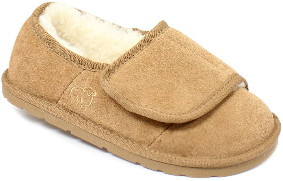 Lamo Footwear Women's Wrap Slippers, Chestnut, hi-res