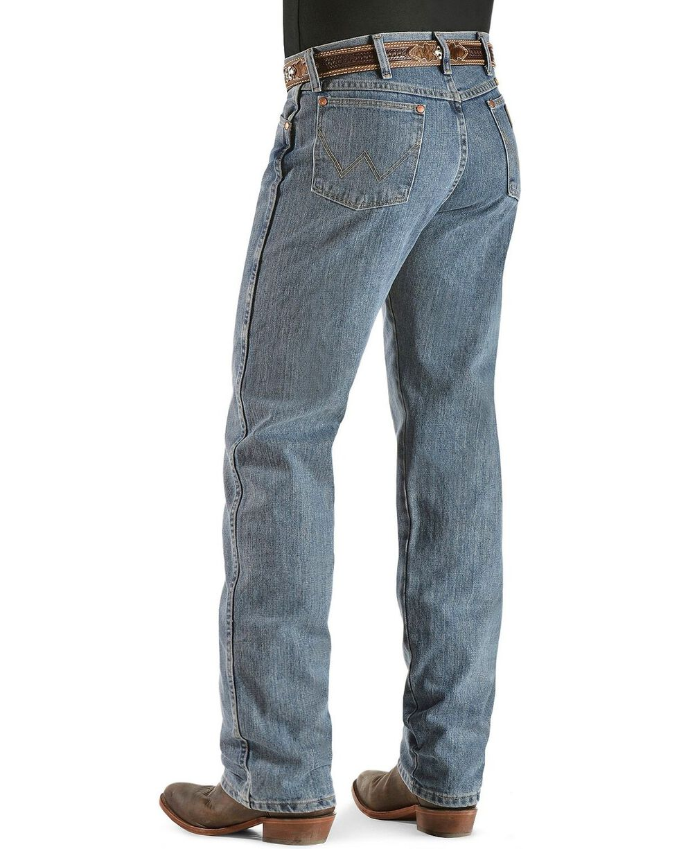 "Wrangler 13MWZ Cowboy Cut Original Fit Prewashed Jeans - 38"" & 40"" Inseams, Rough Stone, hi-res"
