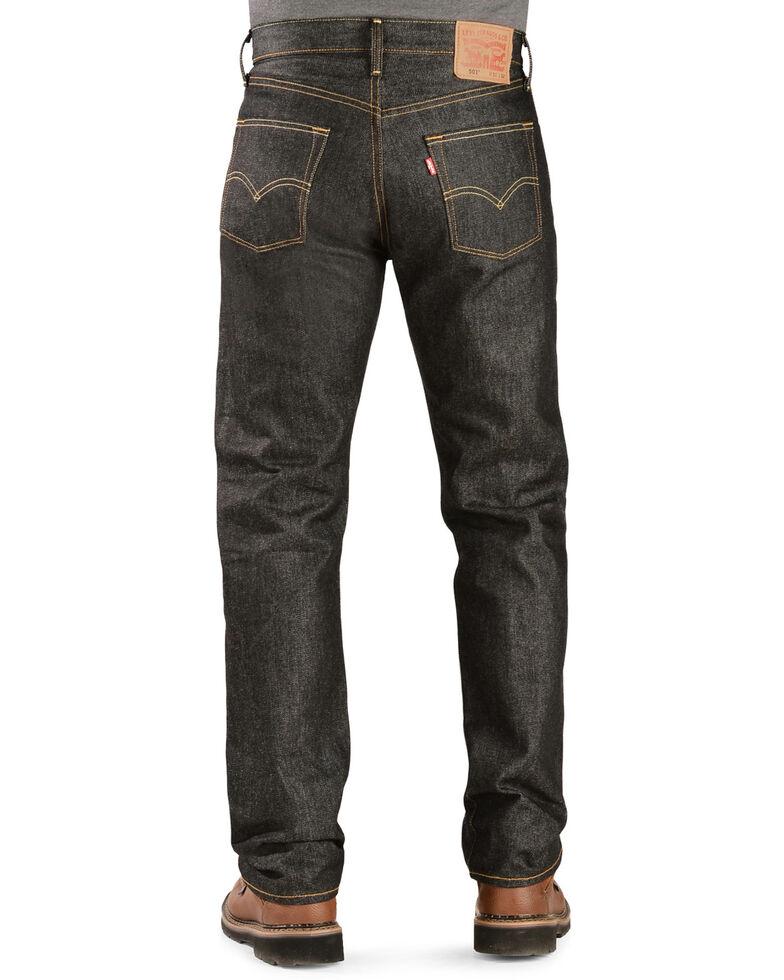 Levi's Men's 501 Original Shrink-to-Fit Black Regular Straight Leg Jeans, Black, hi-res