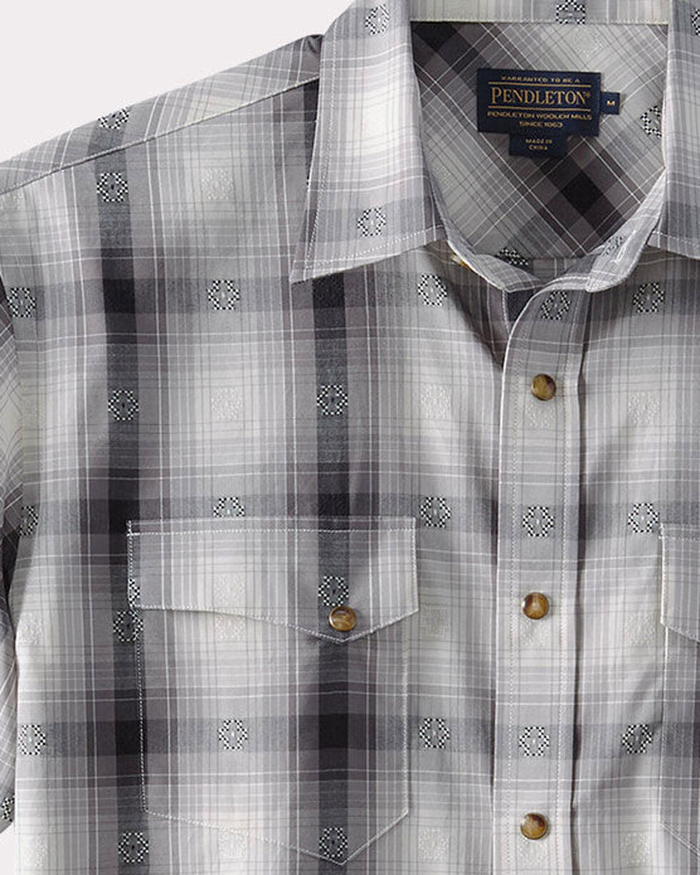 Pendleton Men's Grey Dressy Western Short Sleeve Shirt , , hi-res