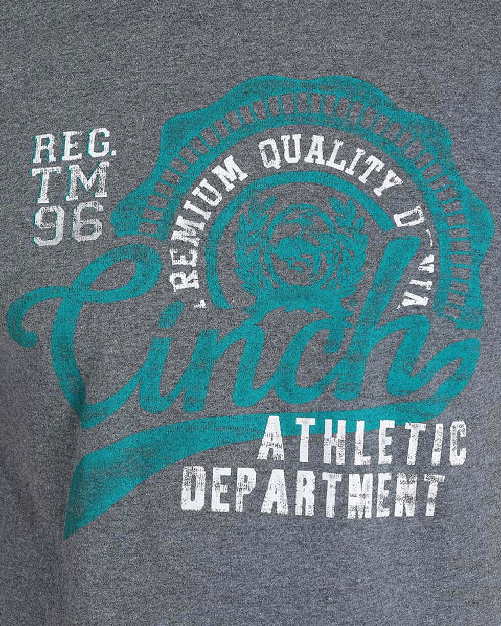 Cinch Men's Heathered Logo Tee, Charcoal, hi-res