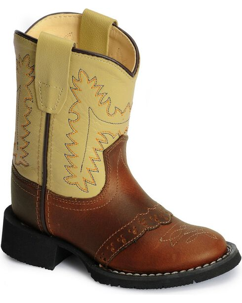 Old West Toddlers' Comfort Western Boots, Rust, hi-res