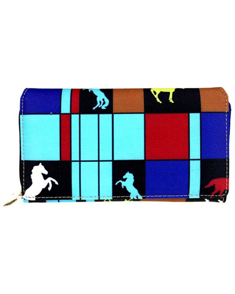Montana West Women's Trail Of Painted Ponies Wallet, Turquoise, hi-res