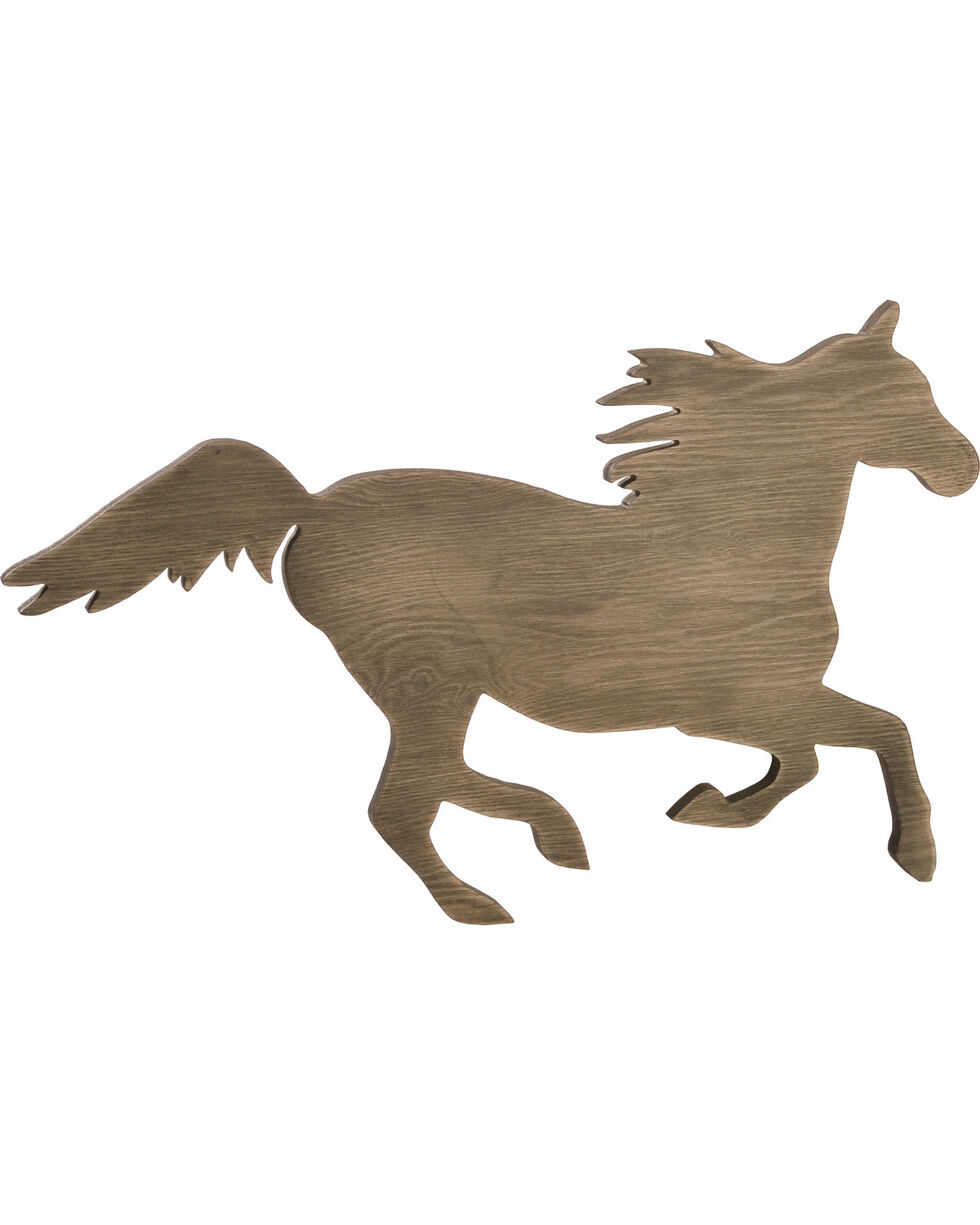 BB Ranch Wood Horse Wall Decor, No Color, hi-res
