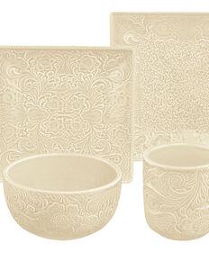 HiEnd Accents Savannah 16-Piece Dinnerware Set - Cream, Cream, hi-res