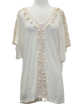 Young Essence Women's Boho Knit Tunic, Beige/khaki, hi-res