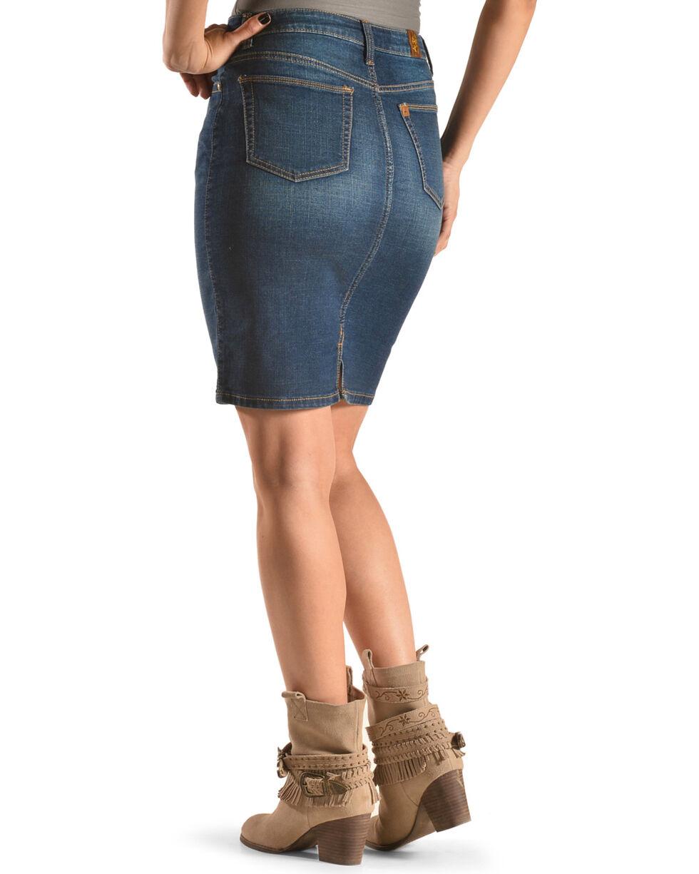 Wrangler Women's Indigo Aura Instantly Slimming Skirt , Indigo, hi-res