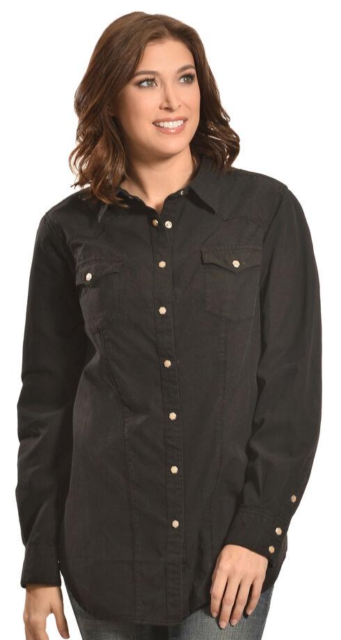 Ryan Michael Women's Victoria Shirt, Black, hi-res