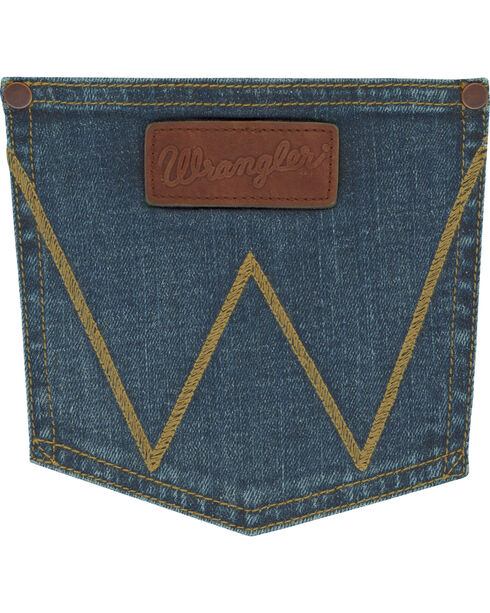 Wrangler Men's Indigo Retro Stretch Denim Slim Fit Jeans - Boot Cut , Indigo, hi-res