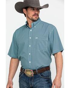 Cinch Men's Multi Small Check Plaid Short Sleeve Western Shirt , Multi, hi-res
