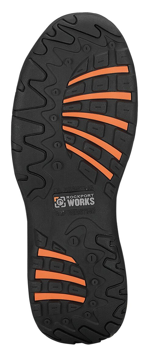 Rockport Works Extreme Light Casual 3-Eye Oxford Work Shoes - Composition Toe, Black, hi-res
