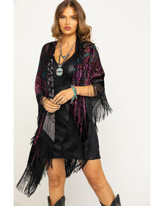 Idyllwind Women's On The Other Side Fringe Shawl, Multi, hi-res