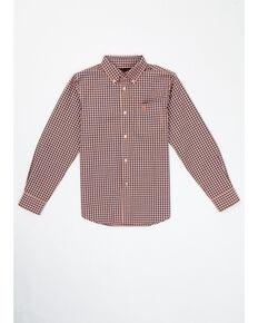 Ariat Boys' Benjamin Plaid Button Long Sleeve Western Shirt , Multi, hi-res