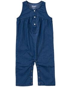 Wrangler Infant Girls' Denim Sleeveless Snap Romper , Blue, hi-res