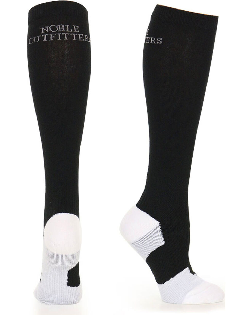 Noble Outfitters Men's Ultimate Support Over the Calf Socks, Black, hi-res