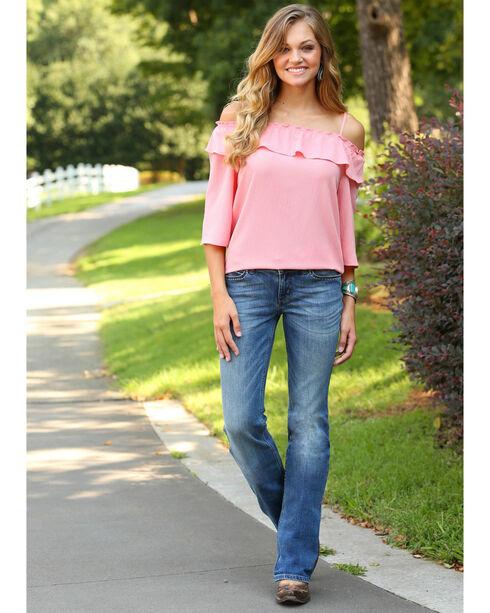 Wrangler Women's Indigo Retro Mae Contour Jeans - Boot Cut , Indigo, hi-res