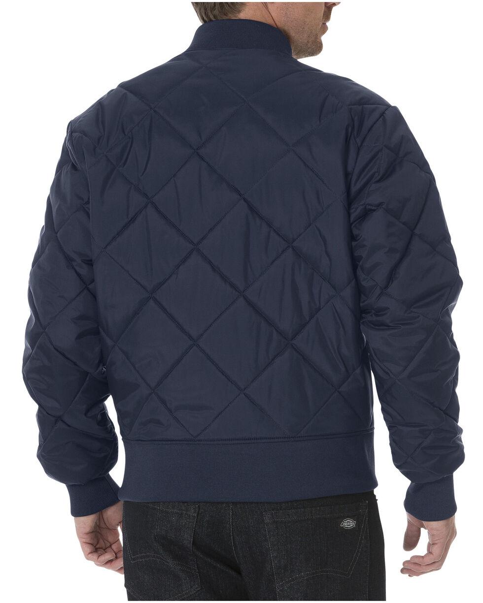 Dickies Diamond Quilted Nylon Work Jacket - Big & Tall, Navy, hi-res
